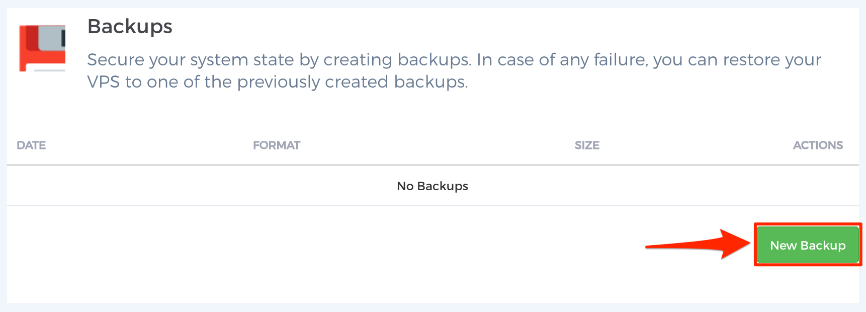 Step 2 - Manual Backups