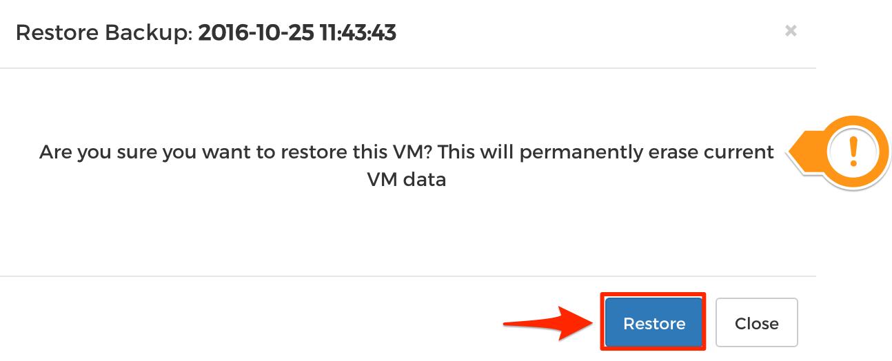 Step 3 - Restore Backups