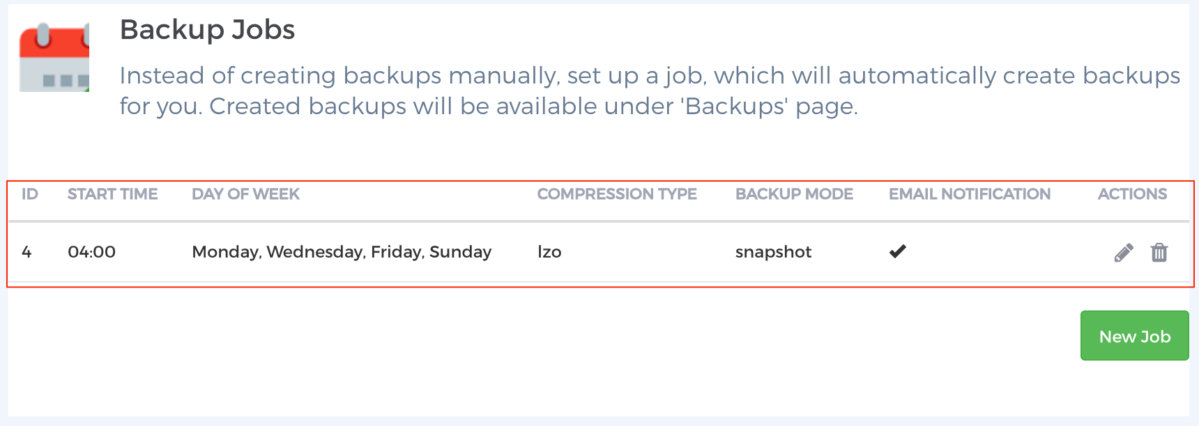 Step 6 - Scheduled Backups